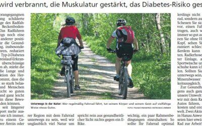 Radfahren hat viele positive Effekte